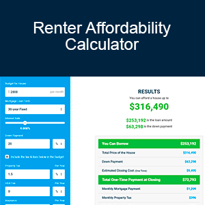 Calculator - Renter affordability calculator